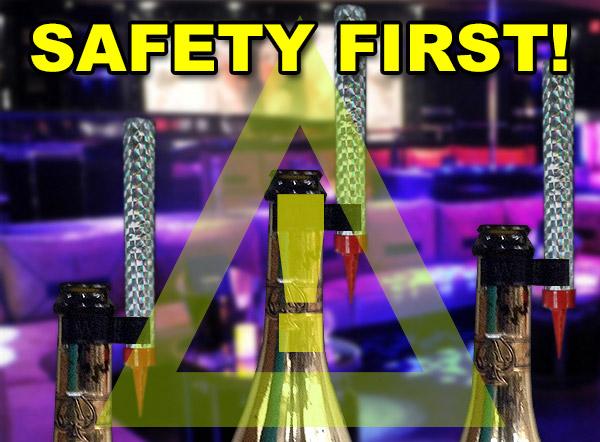 Bottle Sparkler Safety iamge