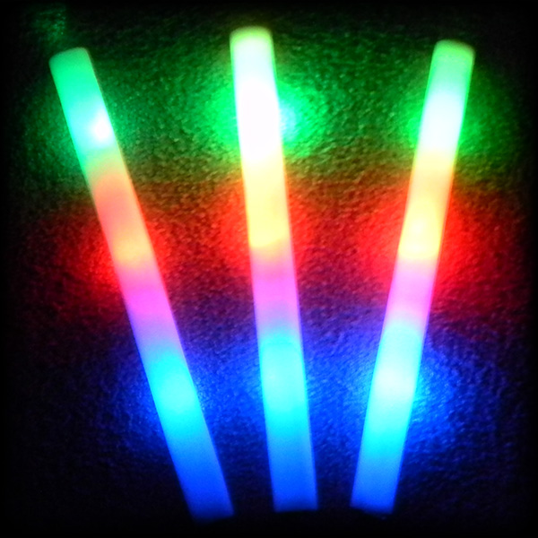 LED Bottle Sparklers and Foam Sticks image