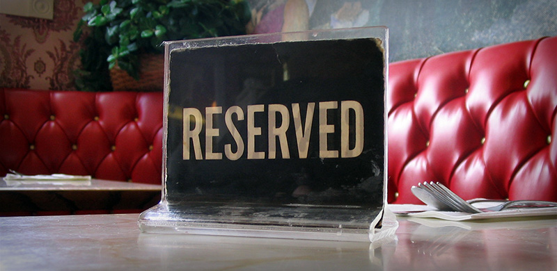 Reserved VIP Table