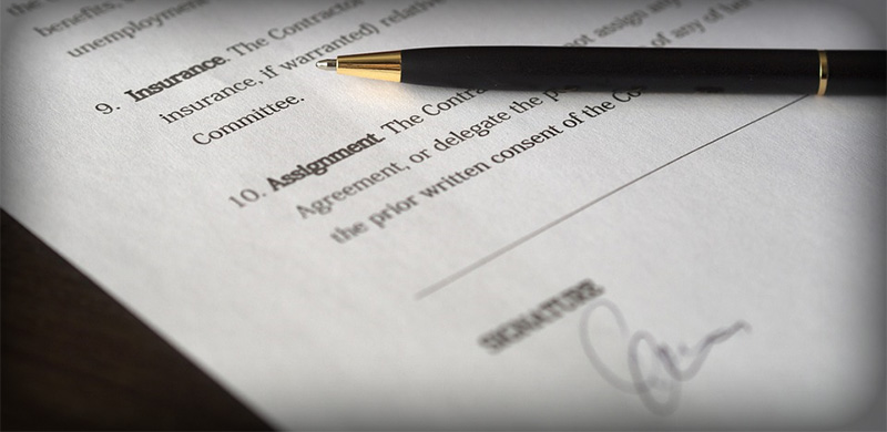 Image of a Contract for Getting Your First Bar Funded