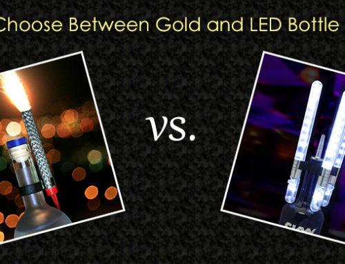 Types of Bottle Sparklers: Choosing Between a Gold or LED Sparkler