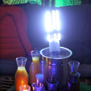 Image of Bottle Service Presented with LED Sparklers