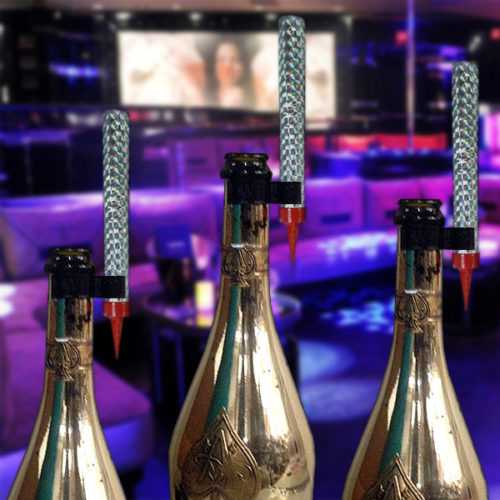 Champagne Sparklers at a Nightclub image