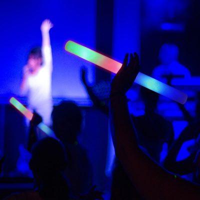 Image of LED Foam Sticks at a Concert