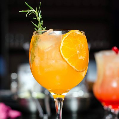 Image of a Properly Garnished Cocktail Made With Beer