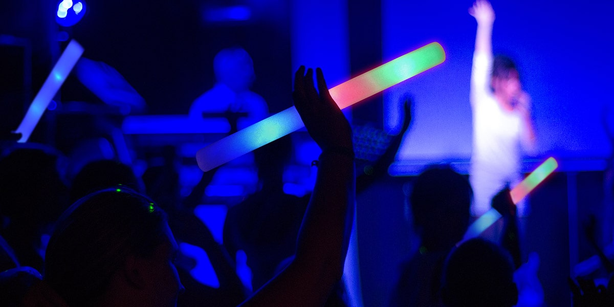 IMage of Ways to Use LED Foam Sticks at Bars and Nightclubs