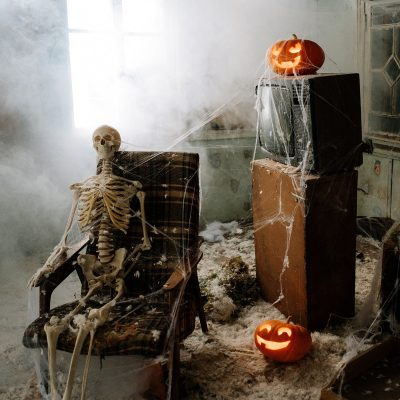 Image of Elaborate Halloween Decorations at a Nightclub