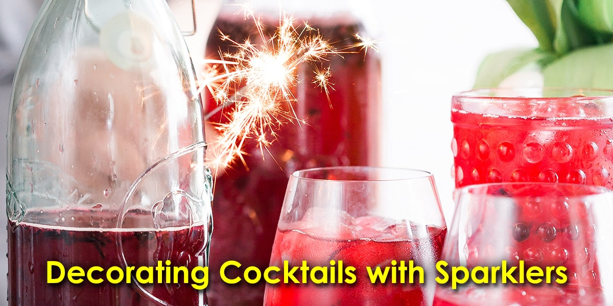 Image of Decorating Cocktails with Sparklers