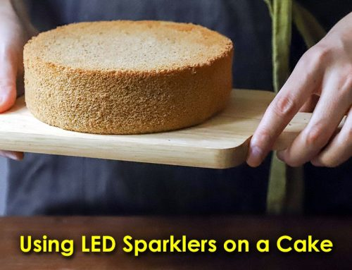 Using LED Sparklers on a Cake