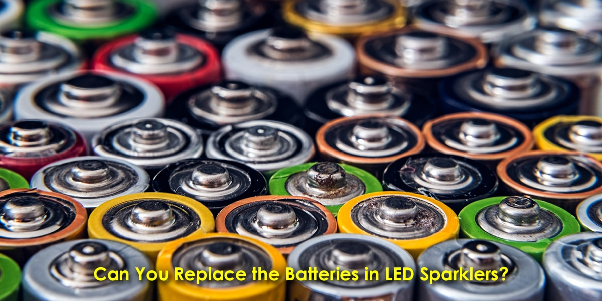 Image Showing How to Replace the Batteries in LED Sparklers